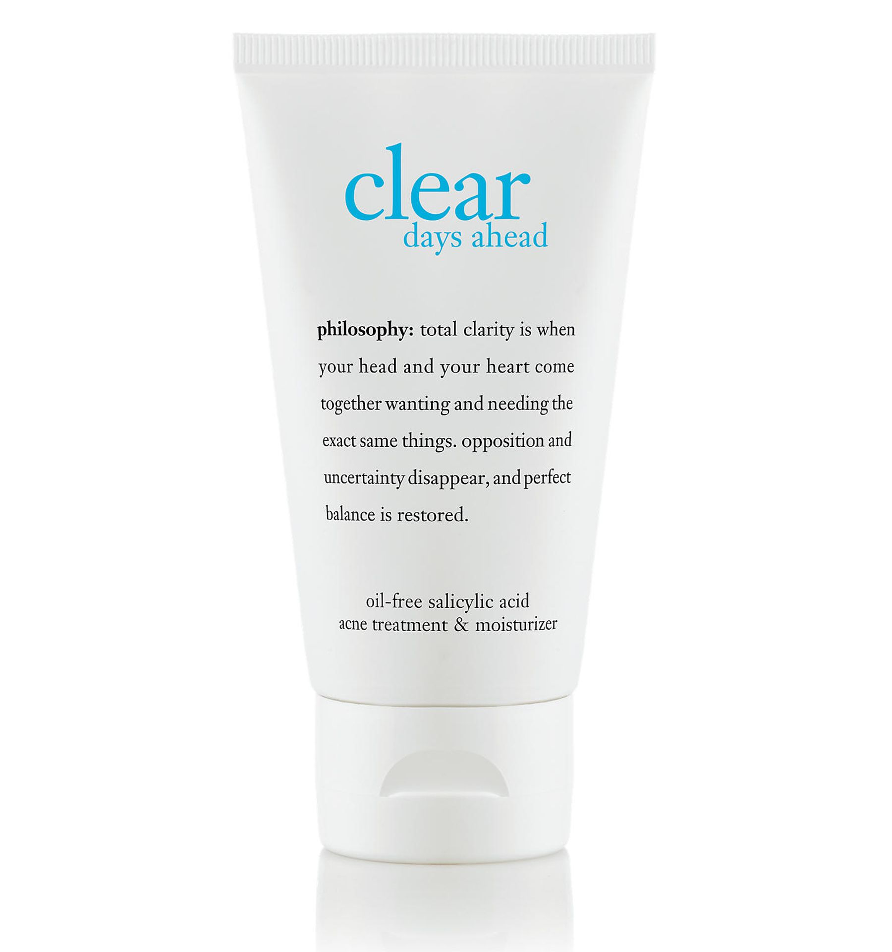 clear days ahead oil-free salicylic acid acne treatment & moisturizer