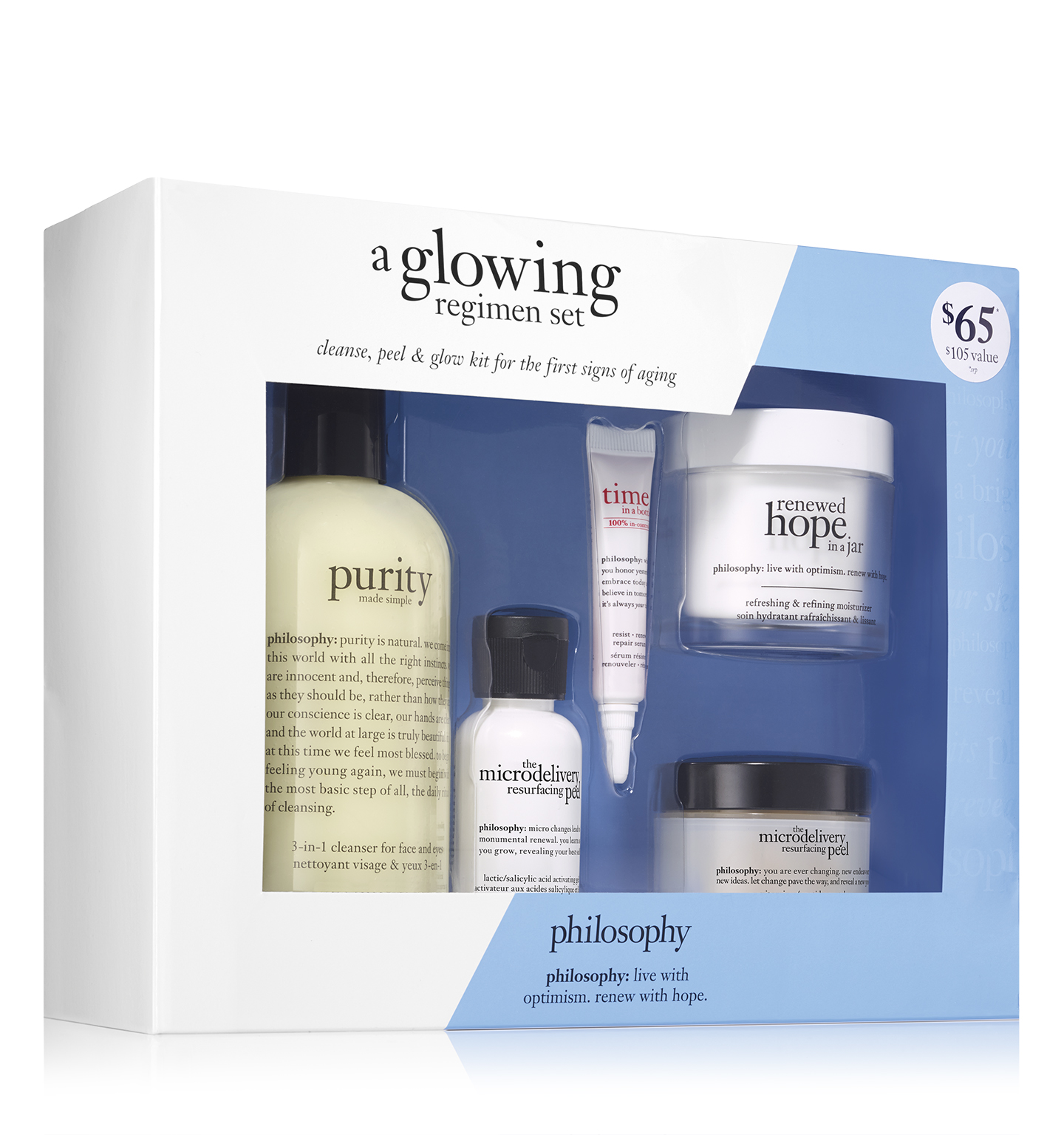 philosophy, a glowing regimen set