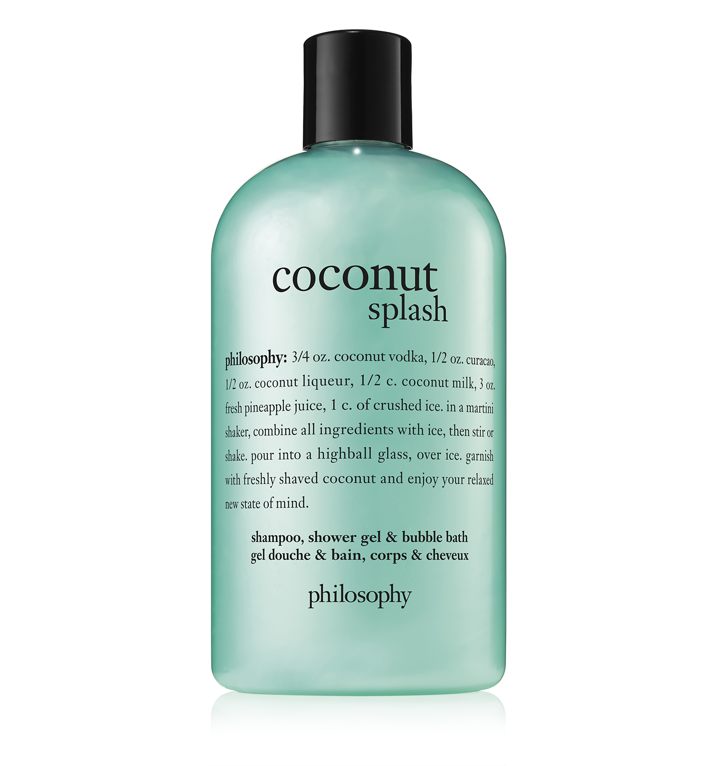 coconut splash shampoo, shower gel & bubble bath