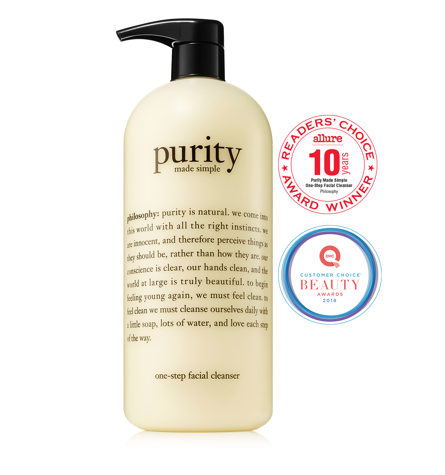 philosophy, purity made simple 32 oz. cleanser