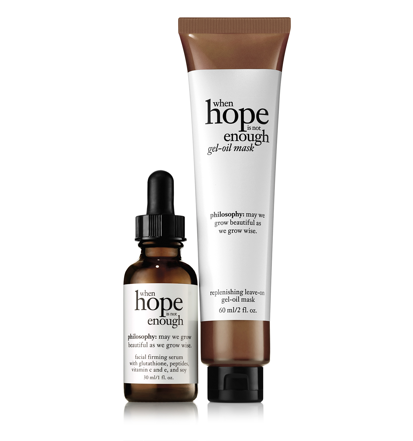philosophy, when hope is not enough day serum and mask