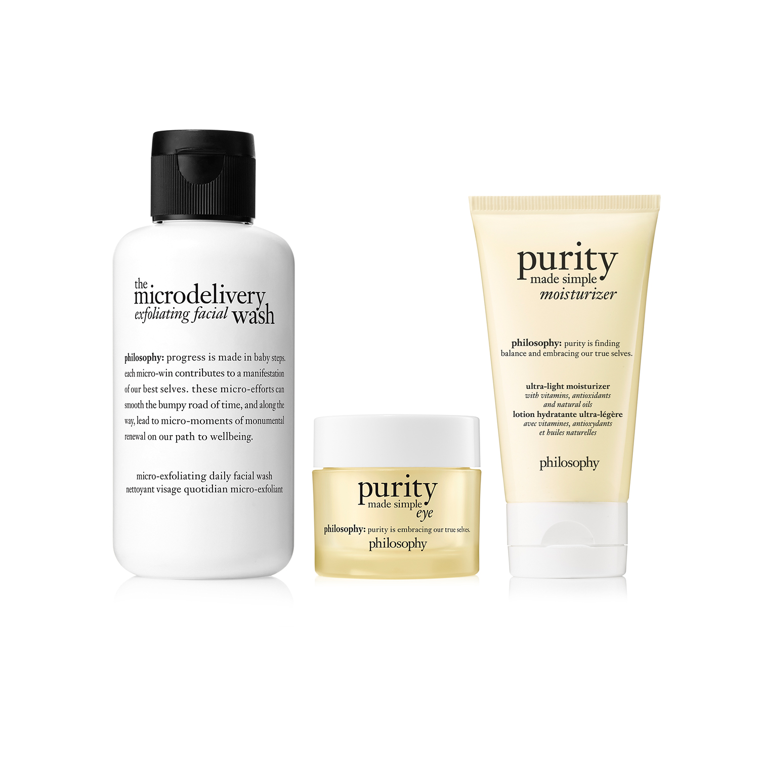 philosophy, cleanse and treat trio
