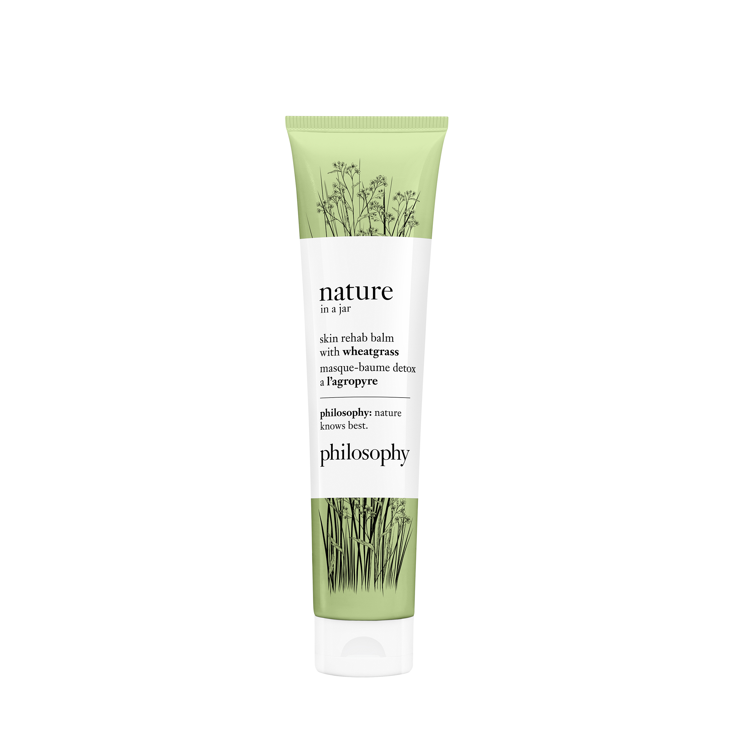 nature in a jar balm mask with wheatgrass