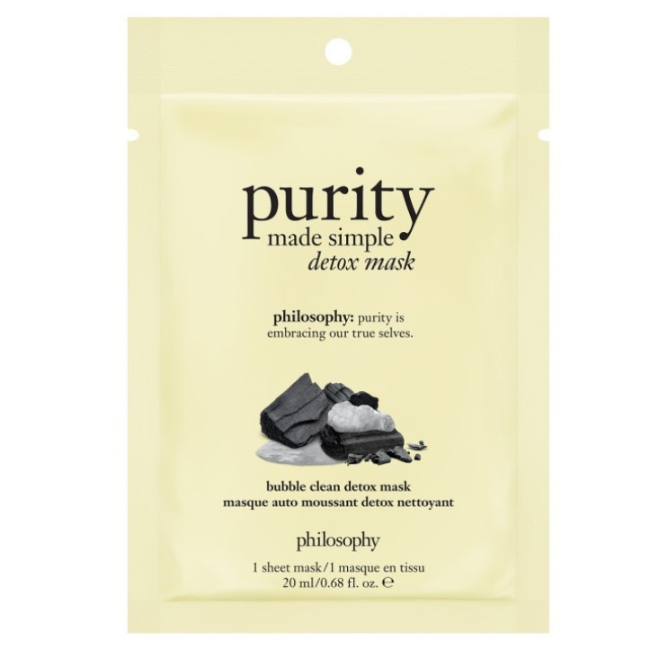 purity made simple detox sheet mask