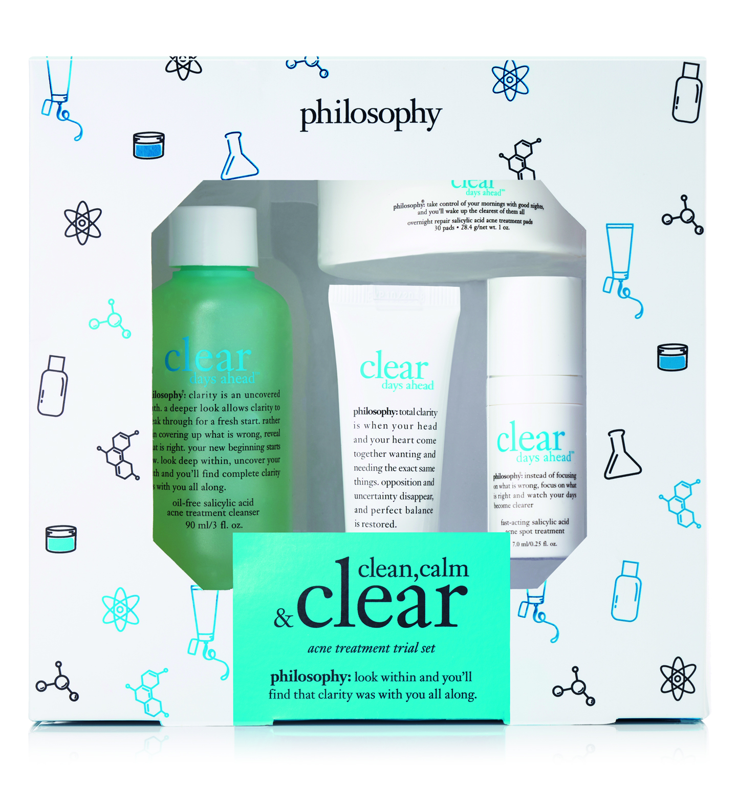 clear days ahead clear, calm, acne treatment set