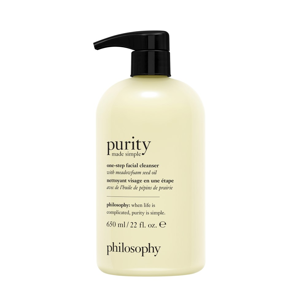 purity made simple one-step paraben free facial cleanser