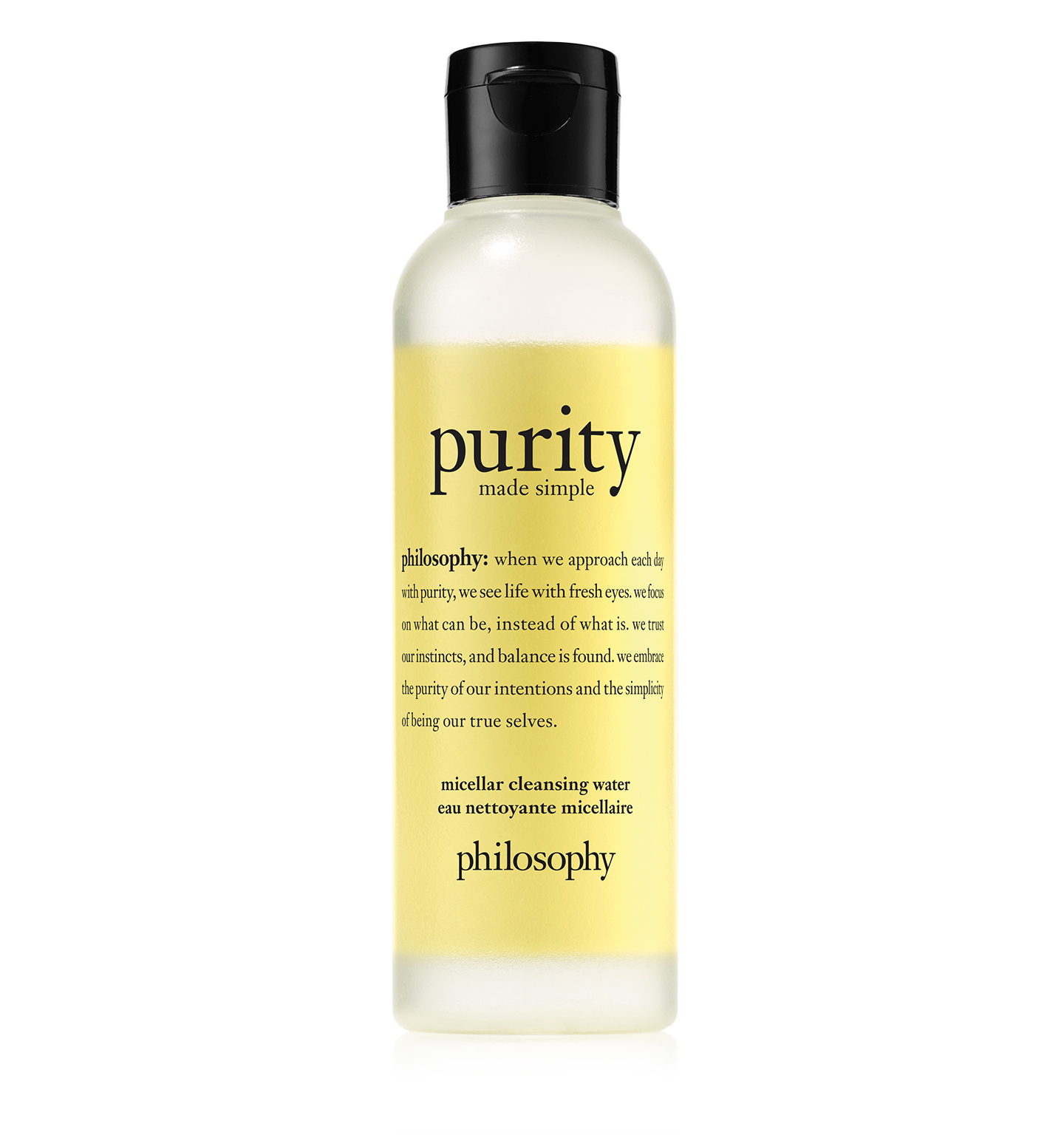 philosophy, purity made simple micellar water 3.4 oz.