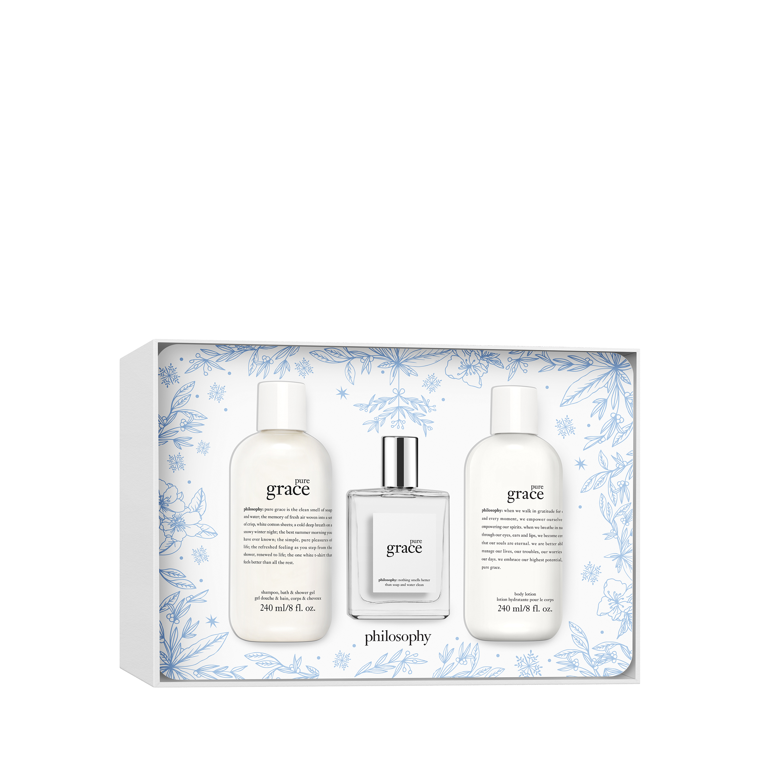 pure grace shower gel, eau de toilette, & body lotion gift set