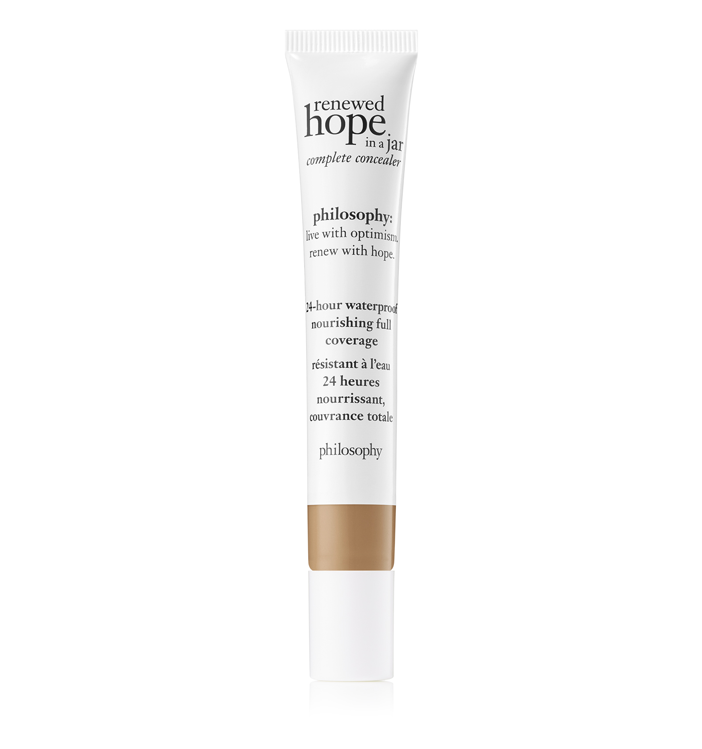 philosophy, renewed hope in a jar full coverage concealer shade 7.5 honey