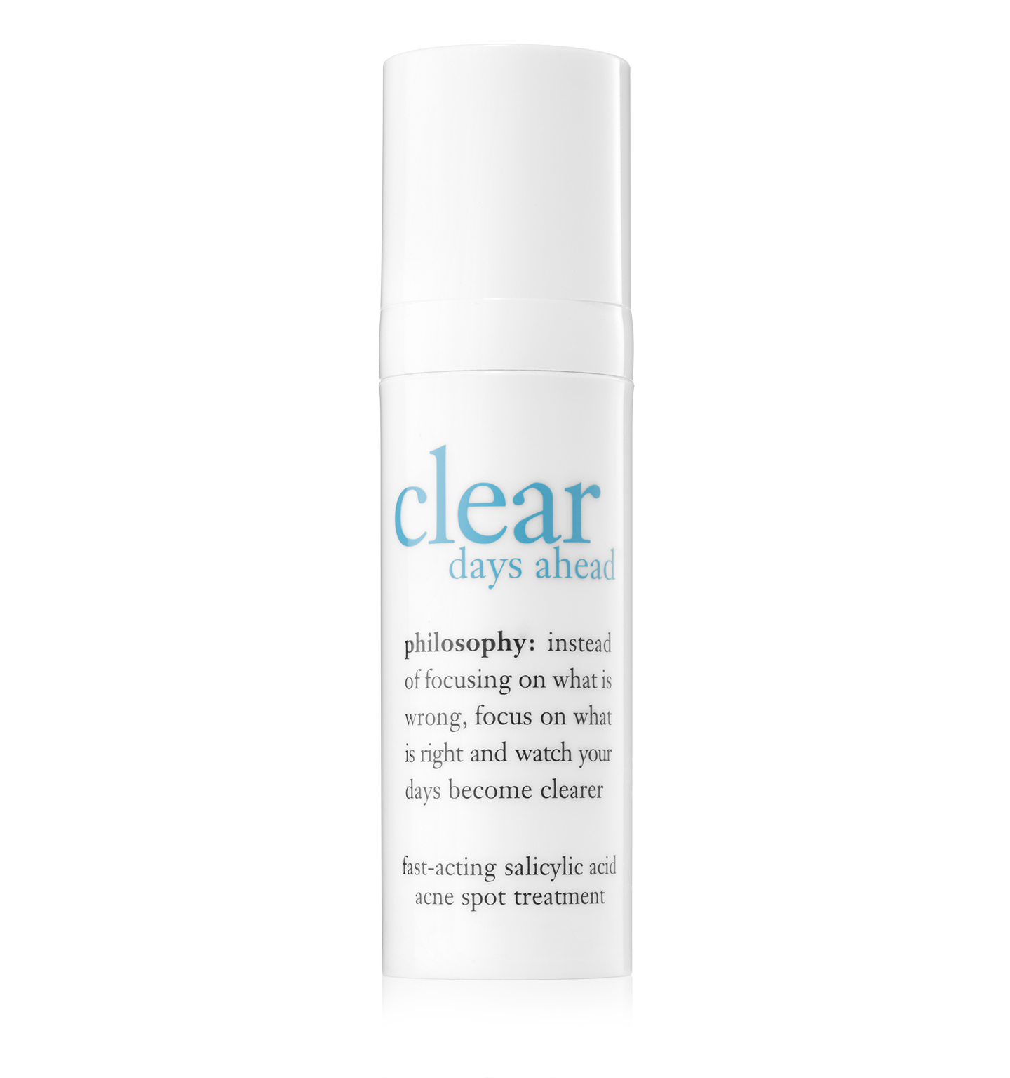 Philosophy  Clear Days Ahead Fast-Acting Salicylic Acid Acne Spot Treatment 0.5 oz Scentuals 100% Natural Lip Conditioner 5g - Caramel Cream
