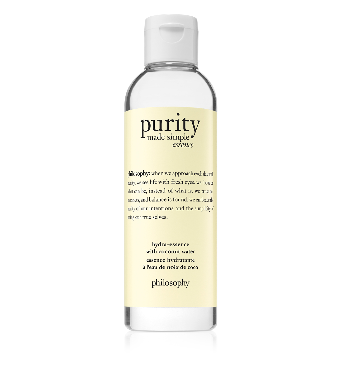 purity made simple hydra-essence with coconut water