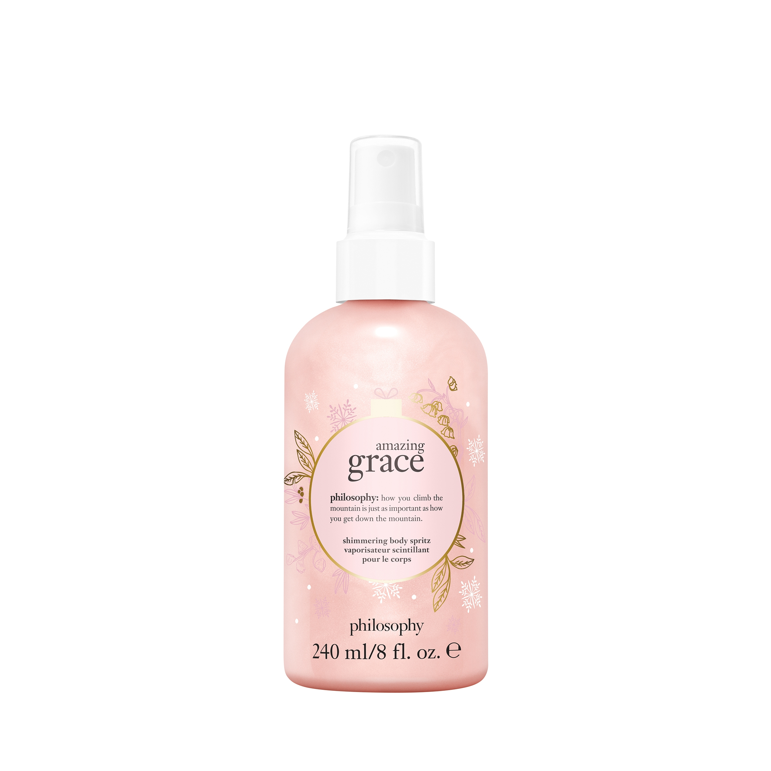 holiday amazing grace shimmering body spritz