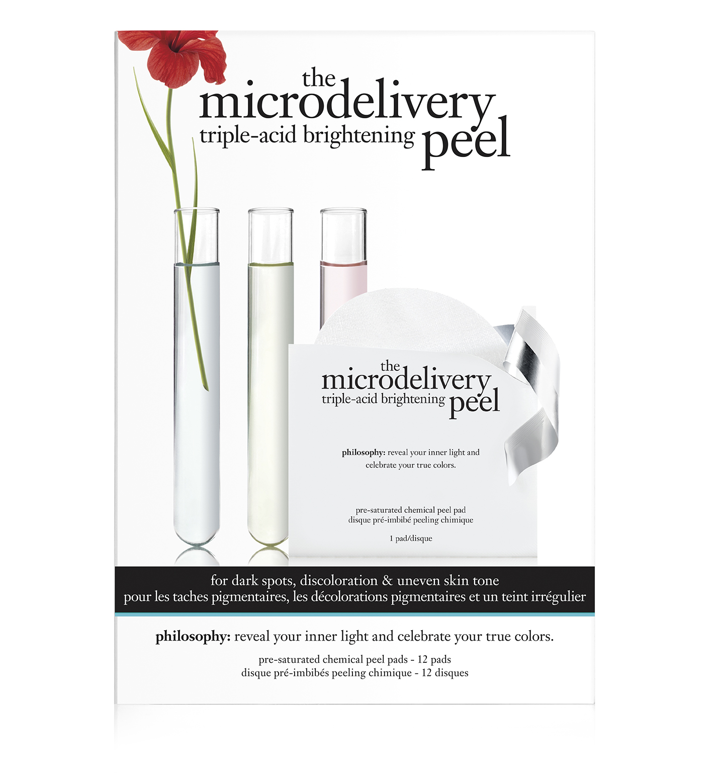 the microdelivery triple-acid brightening peel pads