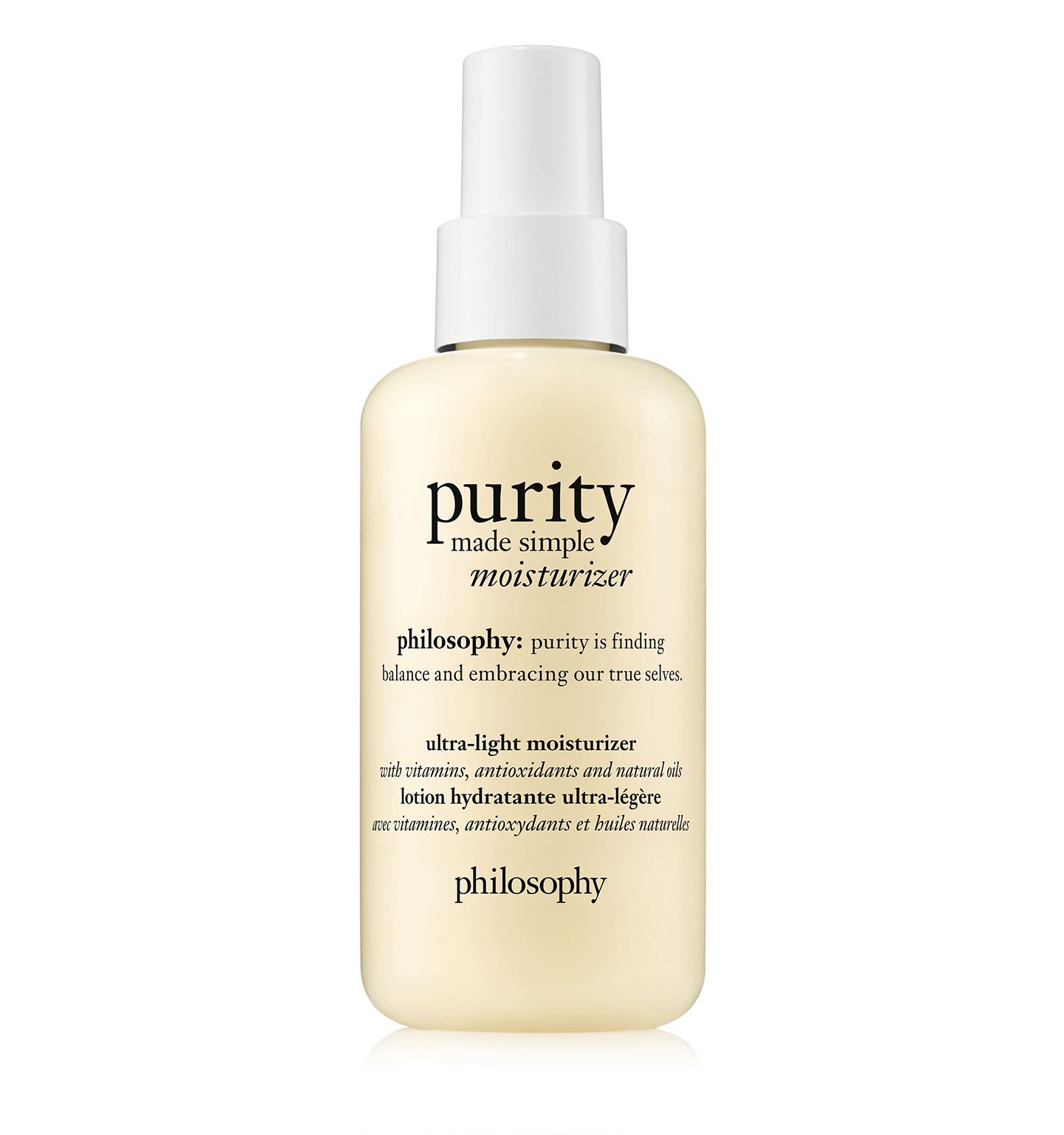 philosophy, purity made simple moisturizer