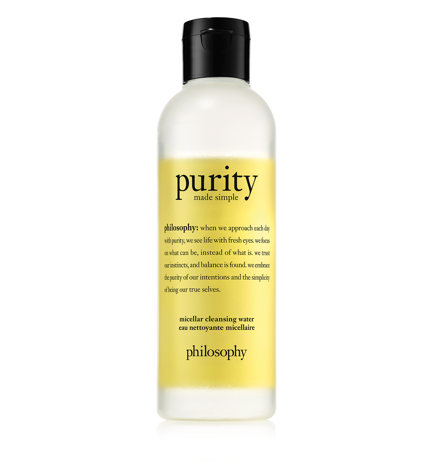 philosophy, purity made simple micellar water