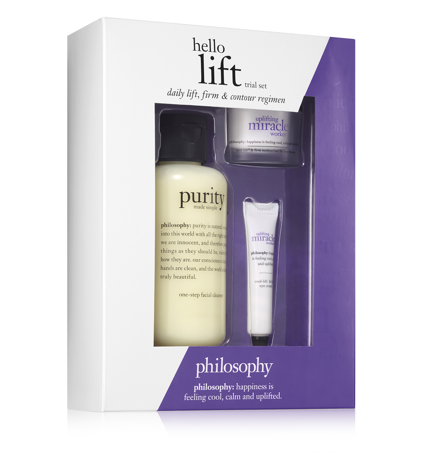 philosophy, hello lift trial set