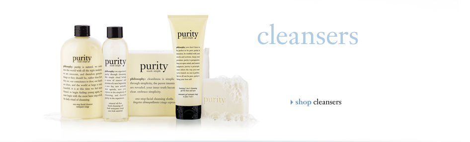 cleansers | shop cleansers